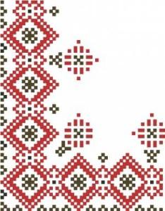 Вышивка крестом схемы монохром салфетка