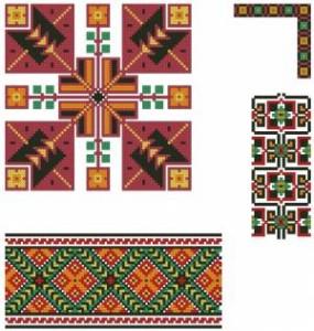 Схема Орнамент колосья