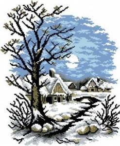 Схема Зимняя деревня