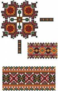 Схема Орнамент, разные узоры