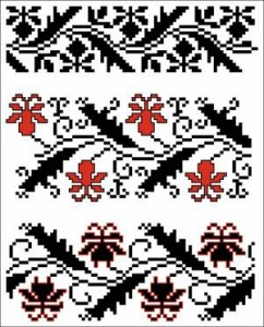Схема Узор растительные ленты