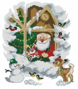 Схема Санта в окошке