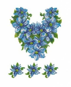 Схема Вышиванка, лилии
