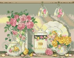 Схема Чай и розы