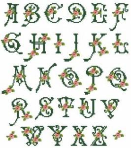 Схема Алфавит с розочками