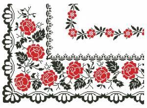 Схема Узор с розами