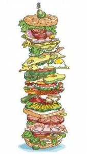 Схема Огромный сэндвич / Tall Sandwich
