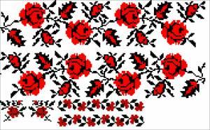 Схема Узор розы