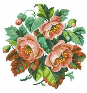 Схема Трояндовий букет