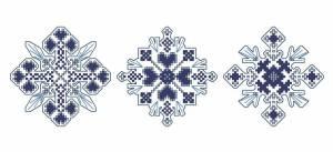 Схема Три снежинки