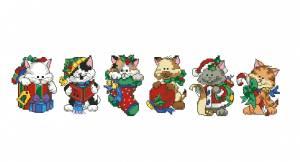 Схема Новогодние котята (на елку) пластиковая канва
