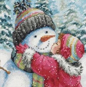 Схема Девочка и снеговик