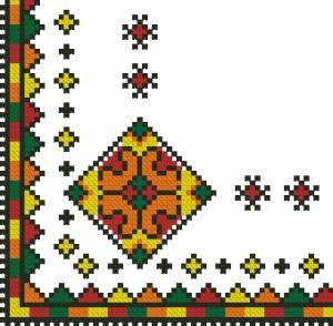Схема Салфетка разноцветная
