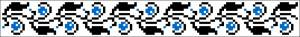 Схема Узор мелкие голубые цветы