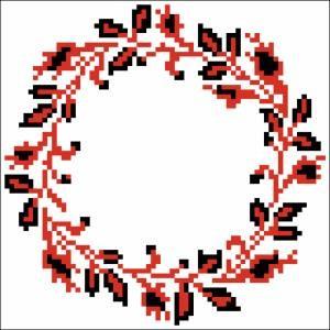 Схема Узор цветочный круг