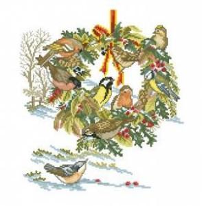 Схема Птицы и венок