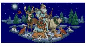 Схема Юбка под елку «Санта в лесу»