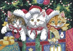 Схема Новогодние котята