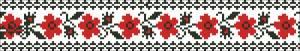 Схема Узор цветочная лента