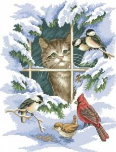 Схема Котёнок на окне