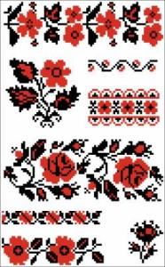 Схема Узор разные розы
