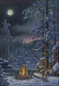 Схема Зимний триптих с волками