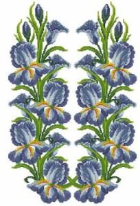 Схема Вышиванка с ирисами