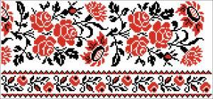 Схема Узор розы и гвоздики