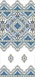 Схема Рушник в голубом