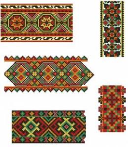 Схема Орнамент, разнообразные ленты