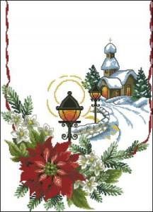 Схема Новогодние салфетки