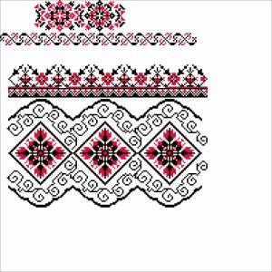 Схема Узор черно-красный