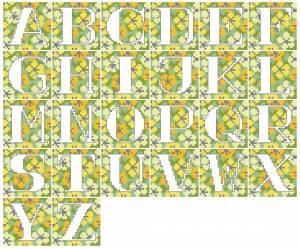Схема Алфавит крупный на жёлтом