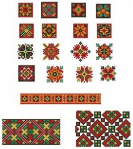 Схема Орнамент цветочки