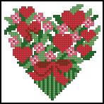Схема Сердечки с цветами
