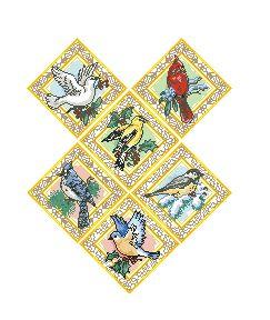 Схема Сэмплер с птицами
