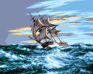 Схема Корабль в море / Corabia pe Mare