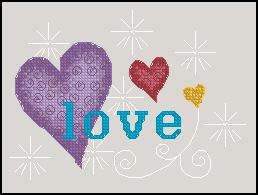 Схема Сердечки / Love