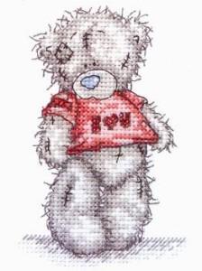 Схема Мишки Тедди. Я люблю тебя