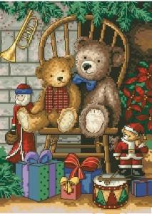 Схема Рождественские мишки