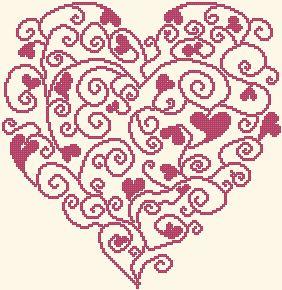 Схема Сердце из сердец