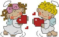 Схема Маленькие ангелочки с сердечками
