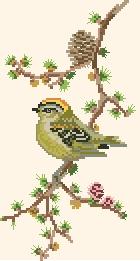 Схема Птичка на сосновой ветке
