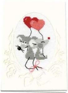 Схема Мышки с сердечками (валентинка)