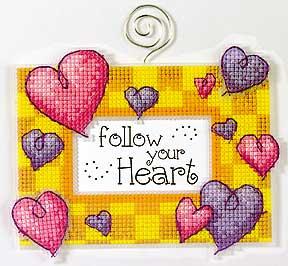 Схема Рамка для фото с сердцами