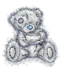 Схема Мишки Тедди. Время для чая