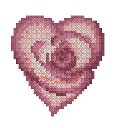 Схема Сердце роза