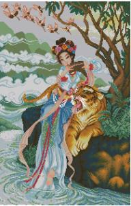 Схема Восточная девушка и тигр