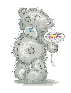 Схема Мишки Тедди. С ромашкой