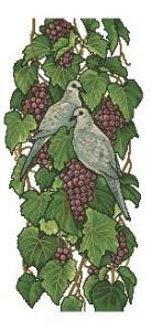 Схема Голуби на винограде